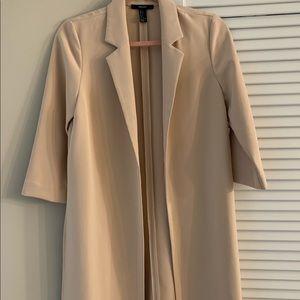 Nude Blazer/Kimono-Forever 21 Size Small